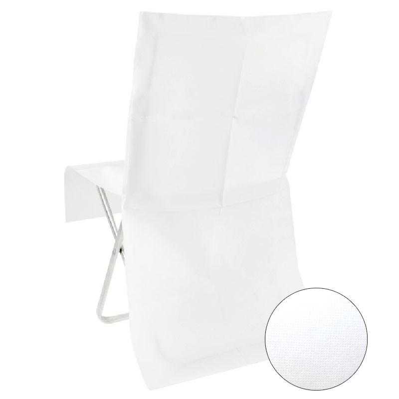 10 housses de chaises blanches semi opaque