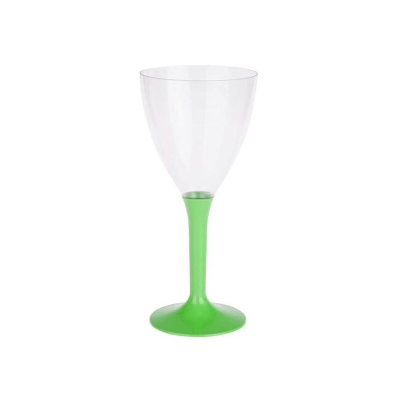 20 verres a vin plastique vert