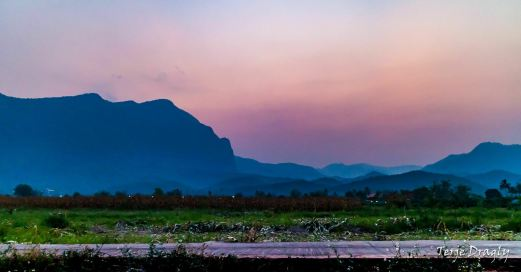 Chiang Dao mountains after Sunset