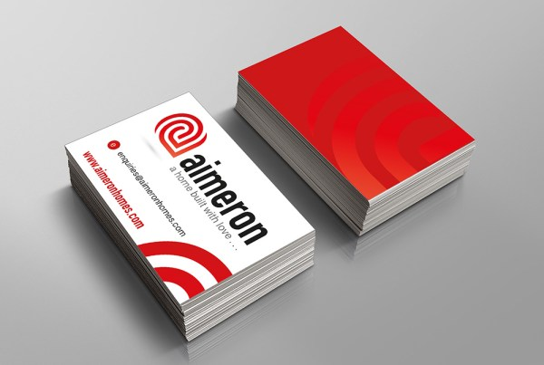 aimeron homes business cards