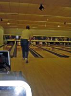 auf der Bowlingbahn