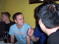 in Schleichers Pub, noch nüchtern