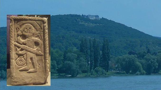 Siebengebirge historia, Reino Franco, piedra sepulcral de Niederdollendorf
