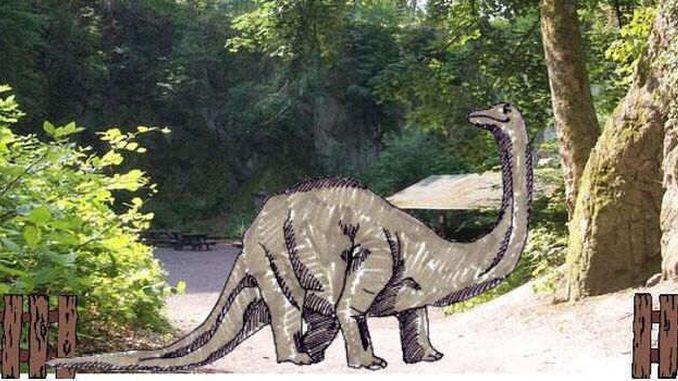 Un dinosaur au Nasseplatz? Siebengebirge, Königswinter