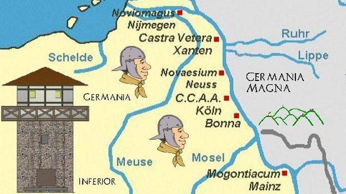 Siebengebirge histoire, Empire Romain, frontière du Rhin