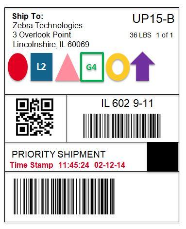 Zebra IQ Color labels