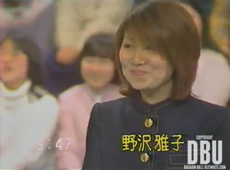 Masako Nozawa à la télévision