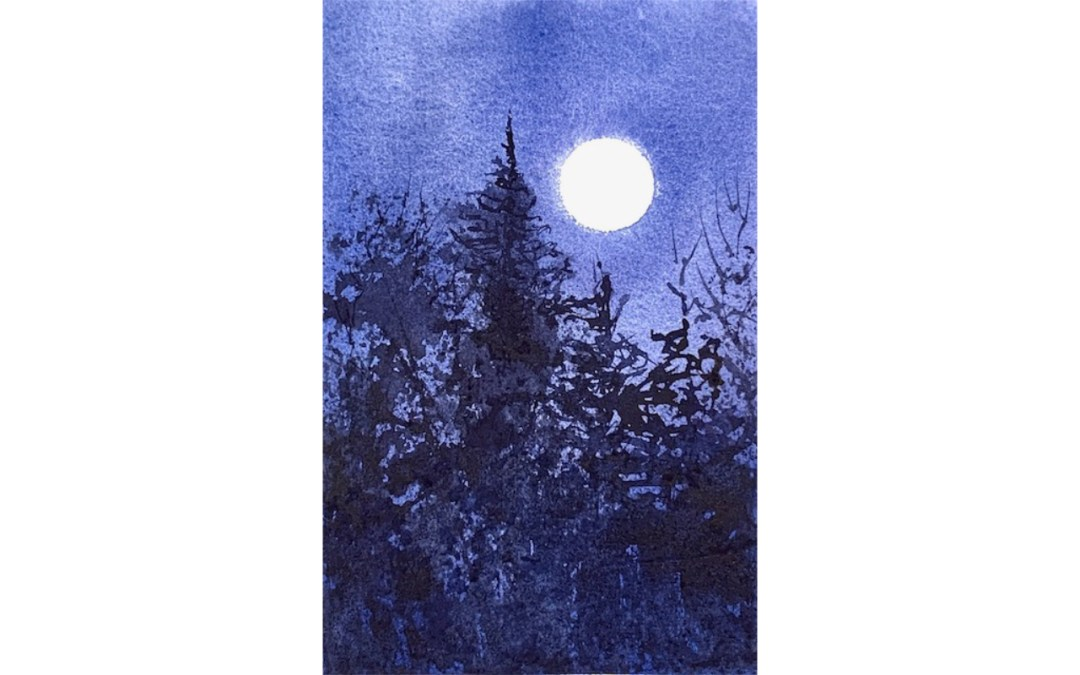 Full Moon Above the Forest