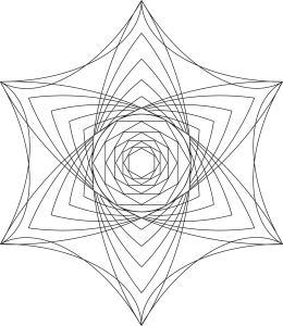 Geometric mandala for coloring.