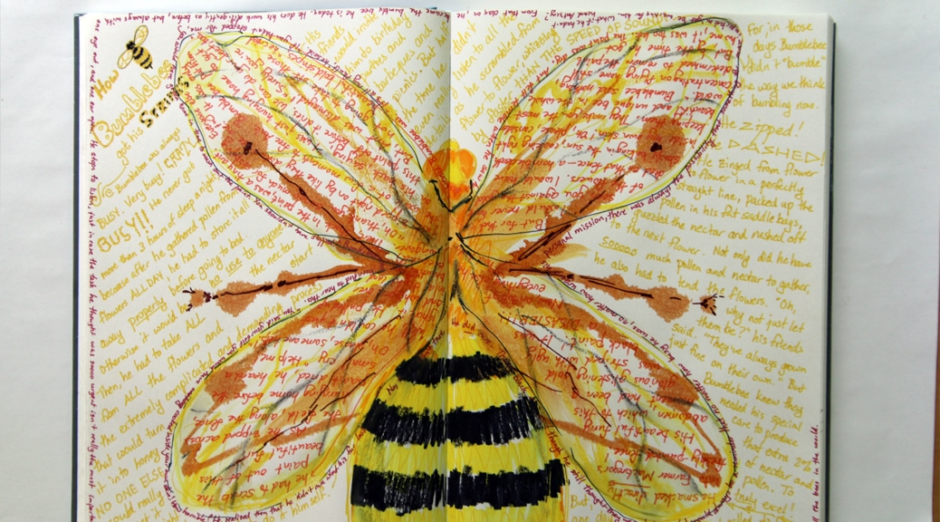 Journal page with story and illustration.