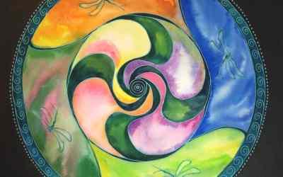 New Watercolor Mandala Template
