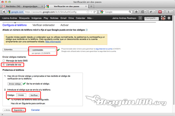 Configurar Gmail Seguro 4 Configurar GMail de forma segura