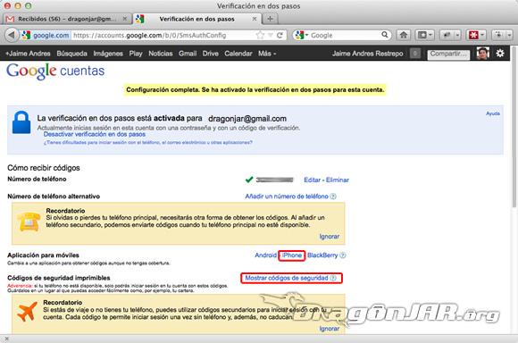Configurar Gmail Seguro 7 Configurar GMail de forma segura