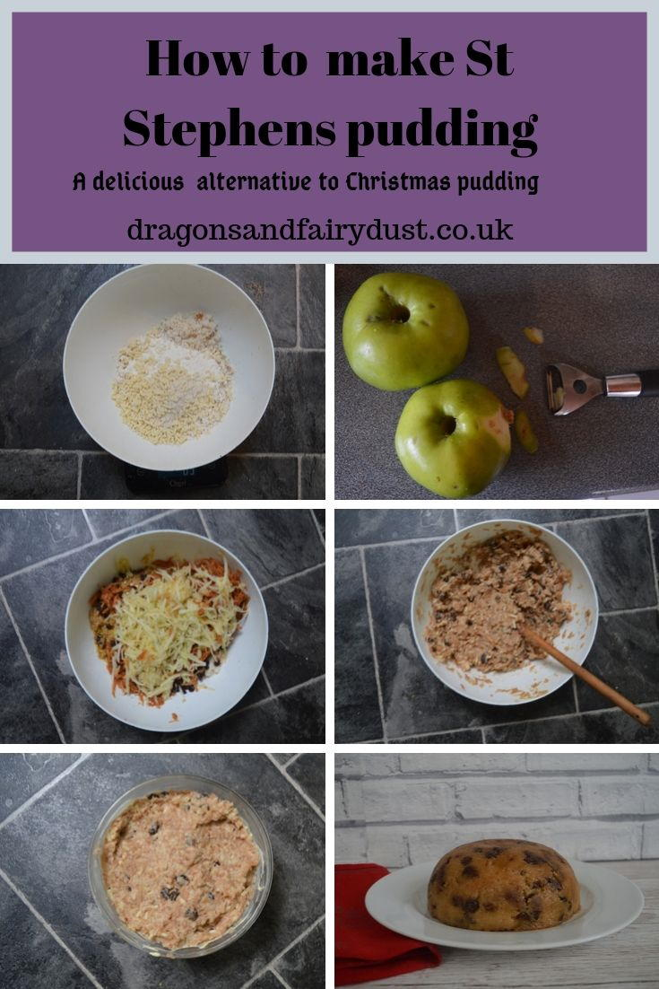 Pictures showing step by step how to make St Stephen's Pudding It is a light steamed apple pudding which is a great Christmas pudding alternative.