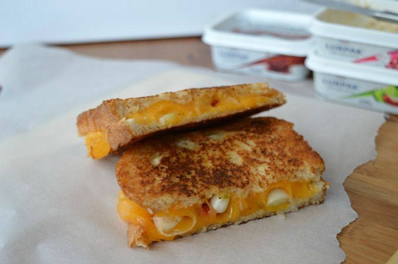 Toasted cheese sandwich with lurpak infusions
