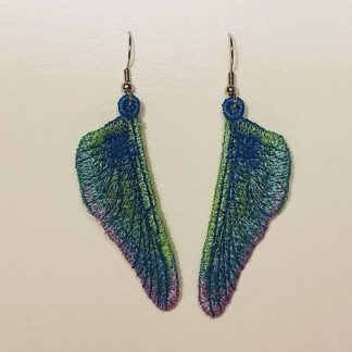 Dragonfly Wing Earring in Iridescent