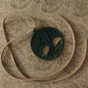 Tree of Life Necklace in dark green