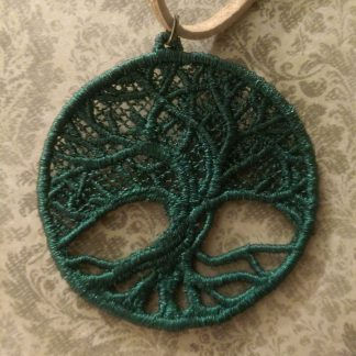 Necklace with Tree-of-Life-Deep-Green