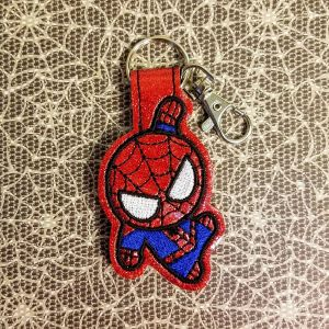 Spiderman-Fob-Red-Sparkle-Vinyl