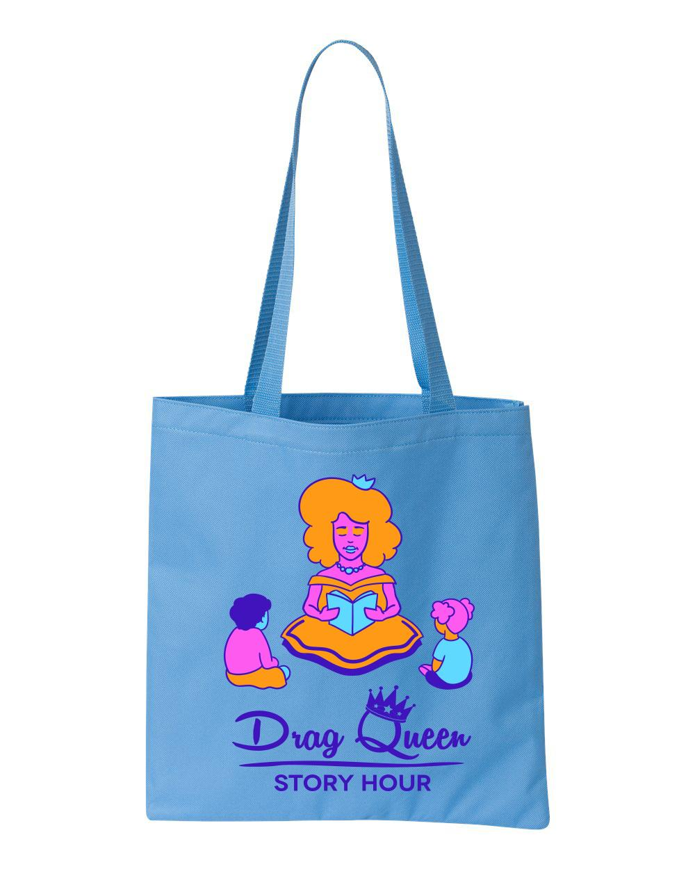 Drag Queen Story Hour tote bag in light blue