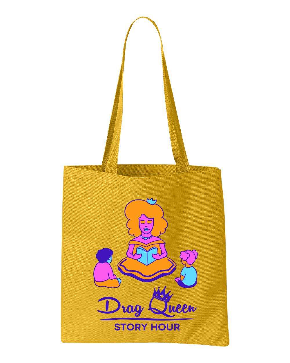 Drag Queen Story Hour tote bag in yellow