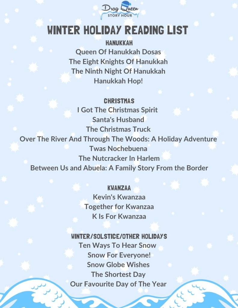list of book titles on snowy background (download PDF for full list of titles)
