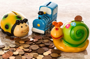 coins and toys