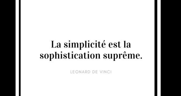 Drague minimalsite de l'éloge de la simplicité