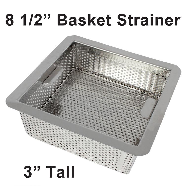floor sink basket strainer 8 5 stainless steel fsq