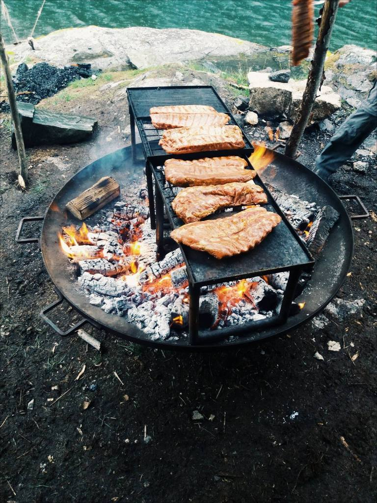 outdoor cooking kanotocht zweden