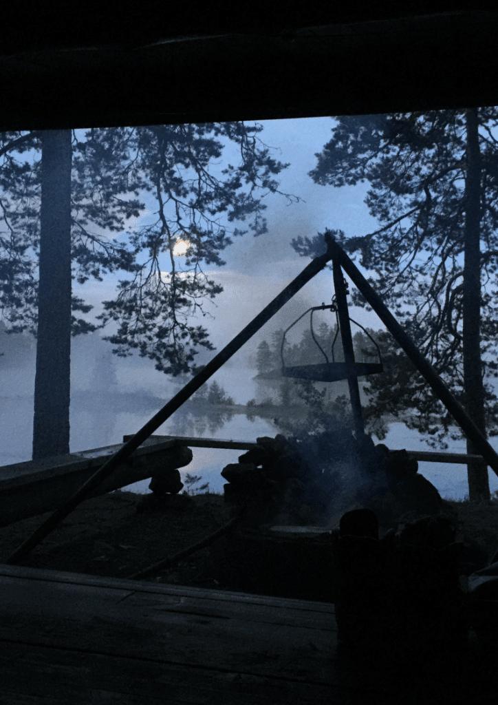 wild kamperen kanotocht zweden