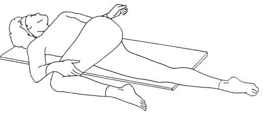 Causas del síndrome de Piriformis Estiramiento piriforme de la cadena posterior de la pierna corta