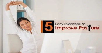 blog picture of lady stretching out for better posture