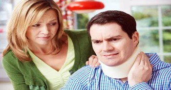 blog picture of wife attending to husband's neck pain