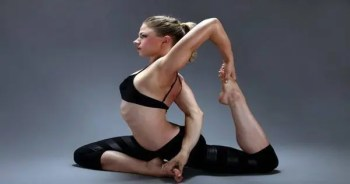 blog picture of young lady doing chiropractic stretch