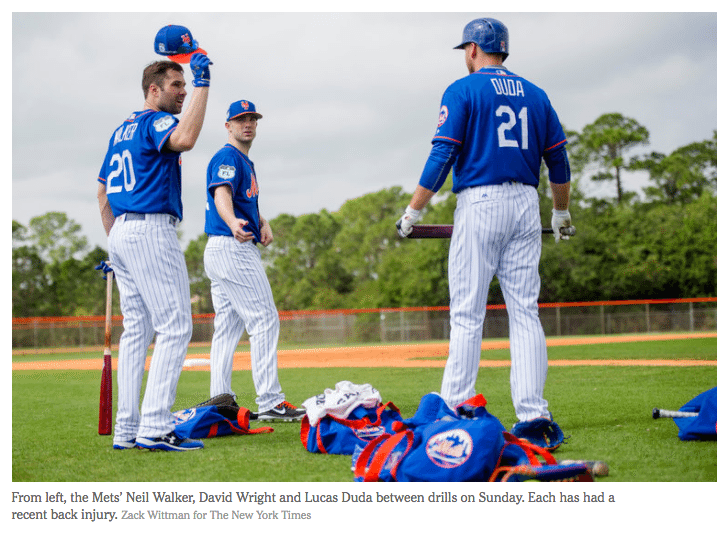 blog picture of mets players at practice