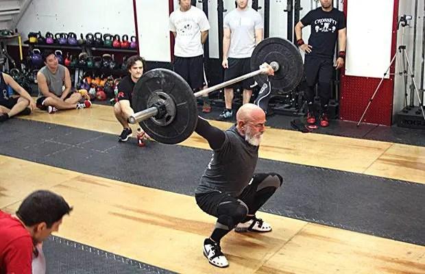 Envejecimiento el paso tx. Ancianos Crossfit