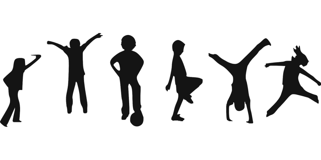 blog silhouette of children playing various sports