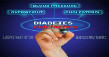 blog picture of hand writing diabetes risk factors