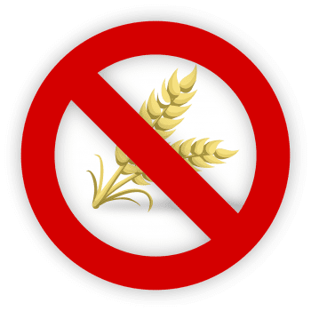 blog illustration of wheat with a prohibited sign over it