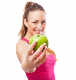nutrition athlete woman apple