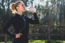 nutrition sports woman drinking water