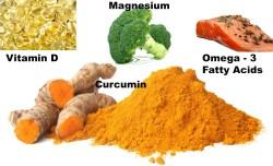 Vitamina D metabólica, Magnesio, Ácidos Grasos Omega-3, Curcumina