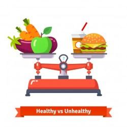 dietary healthy unhealthy food