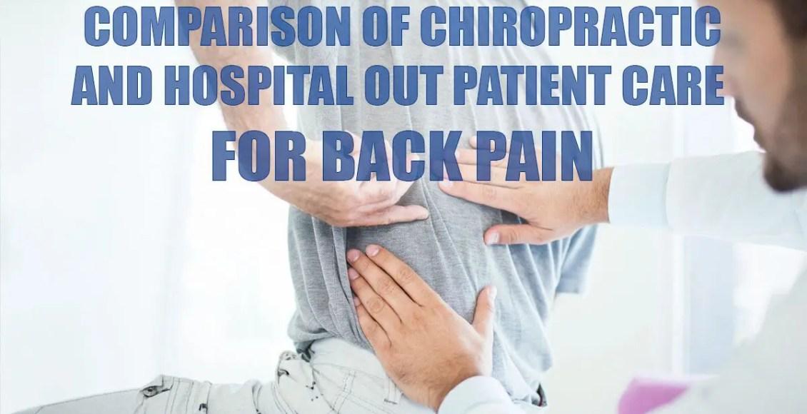 Confronto tra la cura chiropratica e ospedaliera per l'immagine di copertura per il mal di schiena