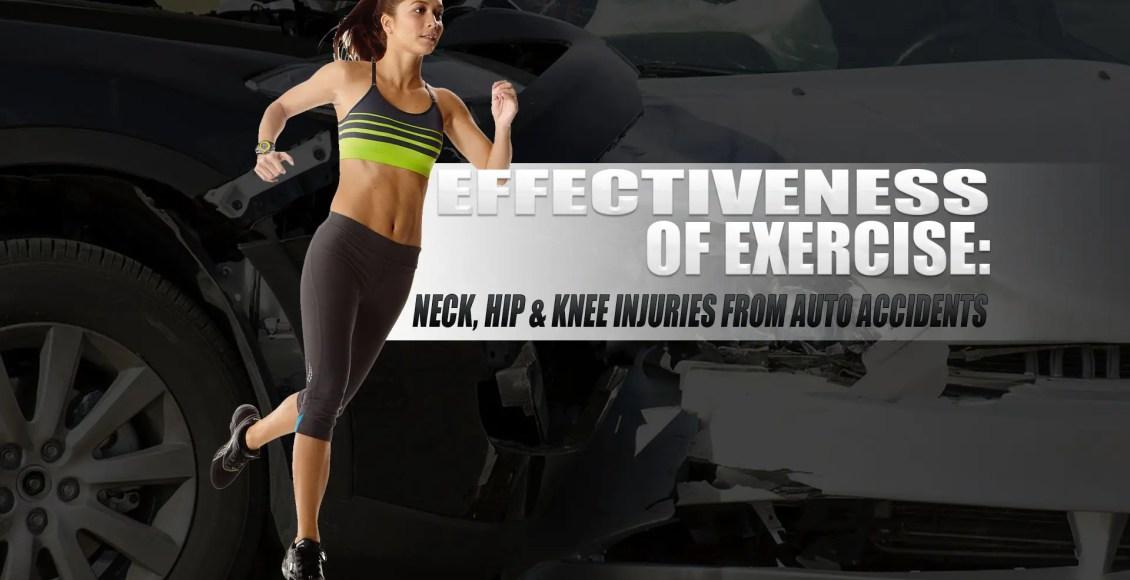 Efficacia dell'esercizio: lesioni al collo, all'anca e al ginocchio da incidenti automobilistici