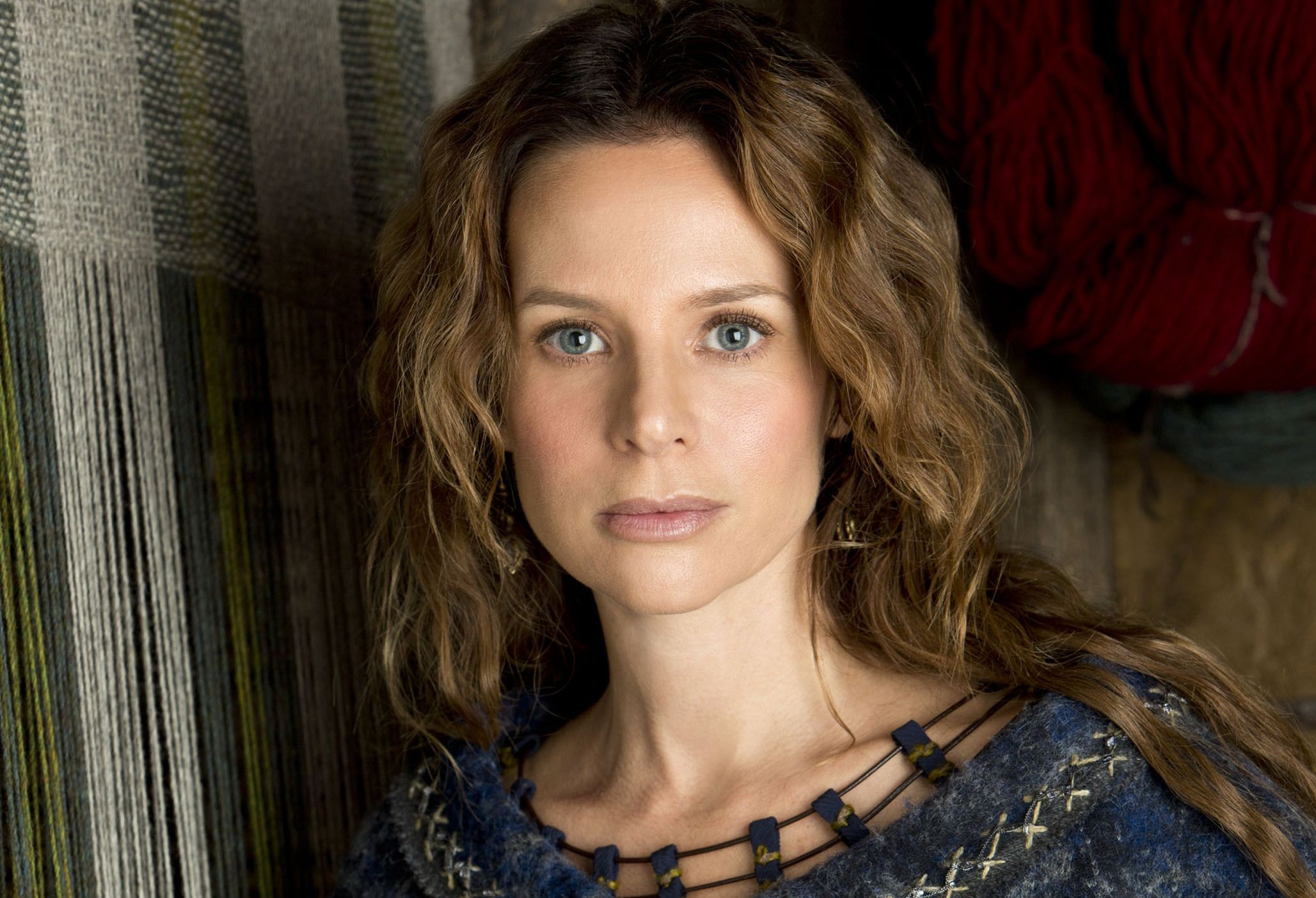 Jessalyn Gilsig Of History Channels Viking Chats With Dr -4763