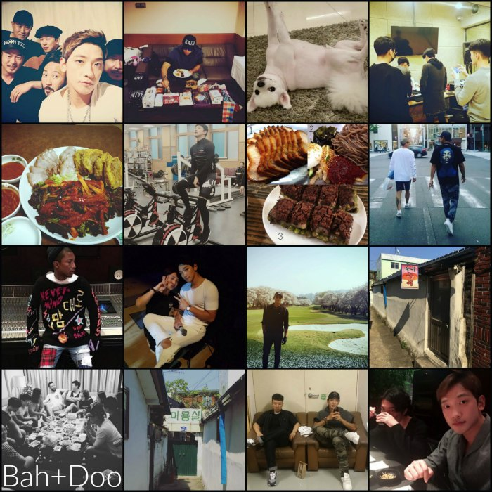 Rains instagram account collage