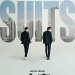 Poster for the Korean Drama (Kdrama) Suits starring Jang Dong-gun and Park Hyung-sik.