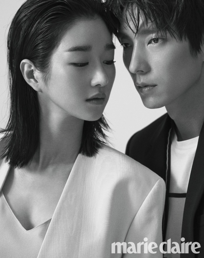 Marie Claire couples photo shoot for the Korean drama Lawless Lawyer starring Lee Joon-gi and Seo Ye-ji